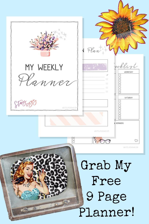 free printable weekly planner Winter 2020