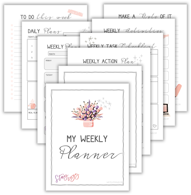 Free printable weekly planner; Winter 2020 Edition
